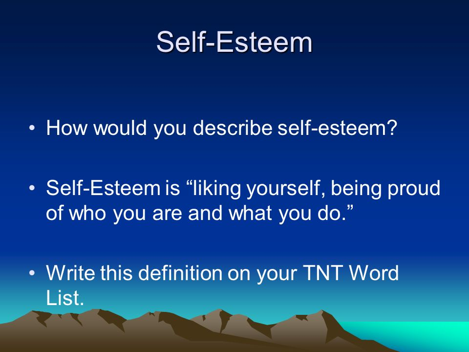 Do now open your tnt student workbook and finish making a 13 self esteem solutioingenieria Gallery