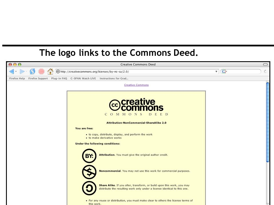 82 The logo links to the Commons Deed.