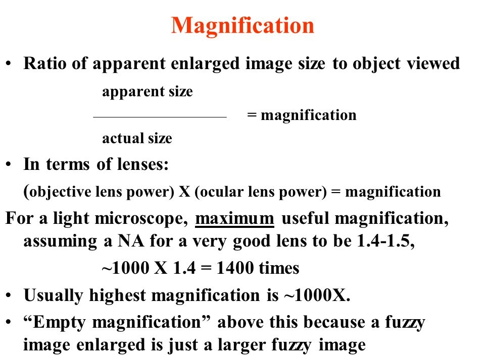 MAGNIFICATION versus RESOLUTION of a Microscope GEOL 3213