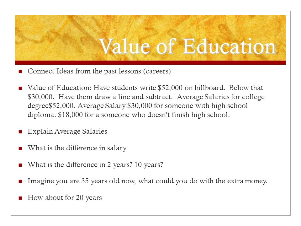 Analyzing The Importance Of School Value Of Education