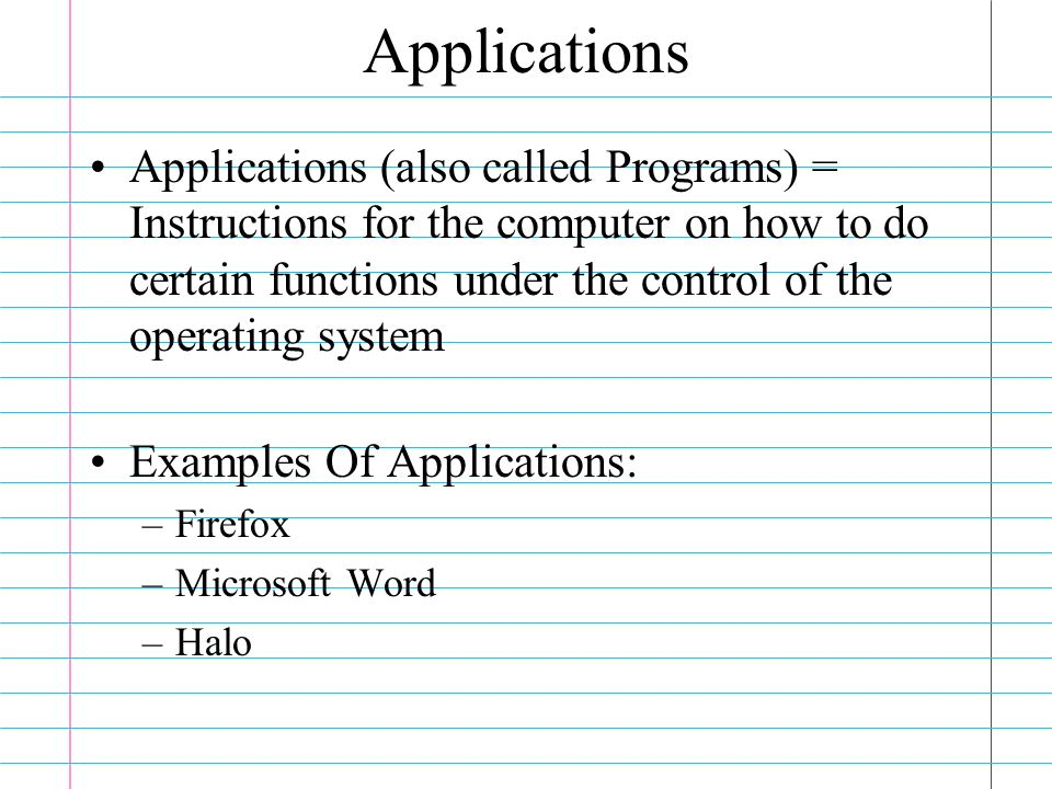 Cs101 Lecture 5 Computer Software Software Software Is A Set Of