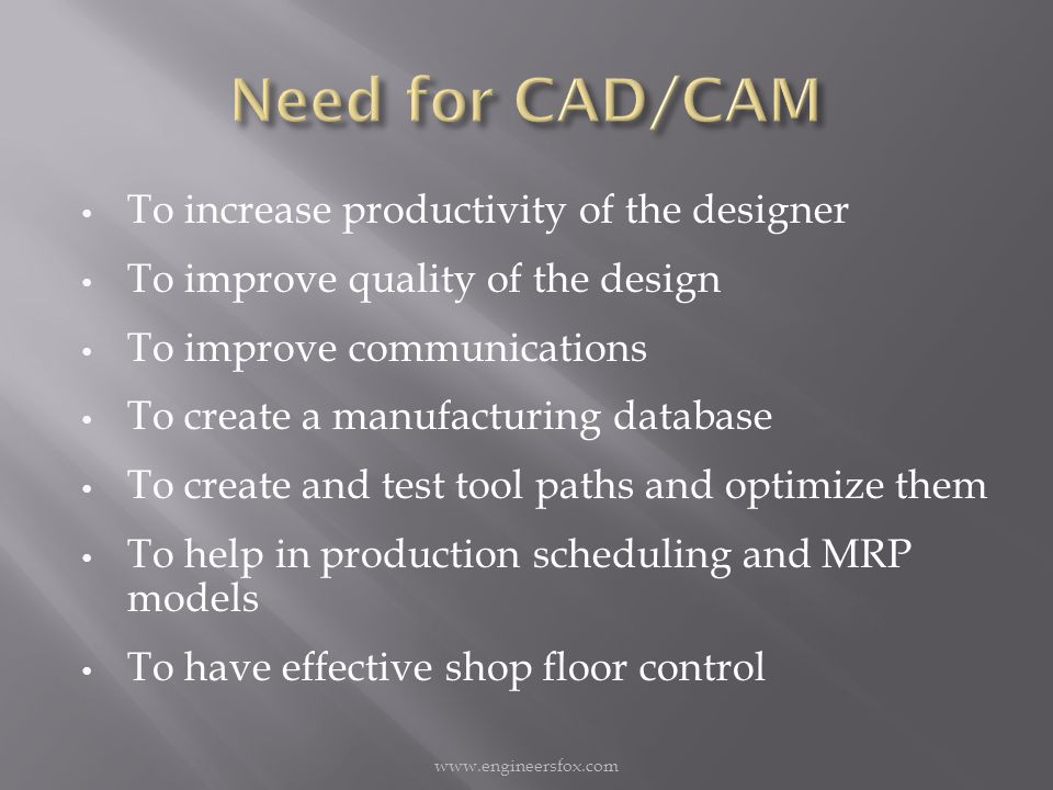 Computer Aided Design Cad Is The Use Of Computer Systems To Assist In The Creation Modification Analysis Or Optimization Ppt Download