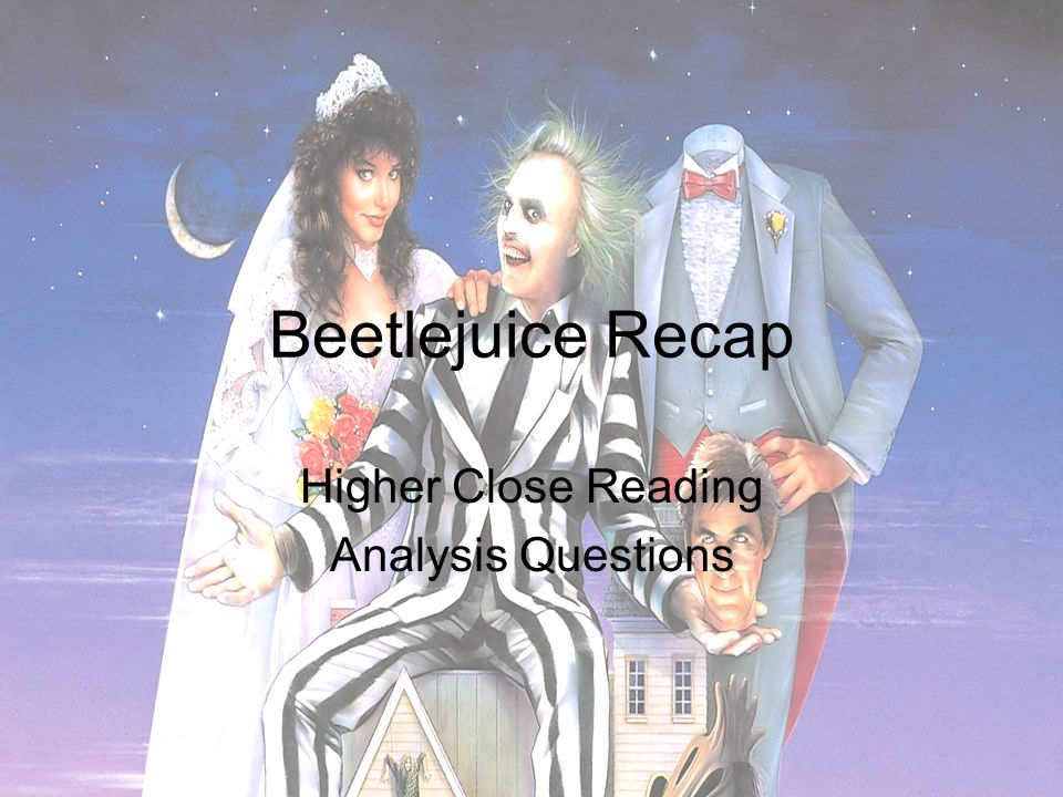 beetlejuice film analysis