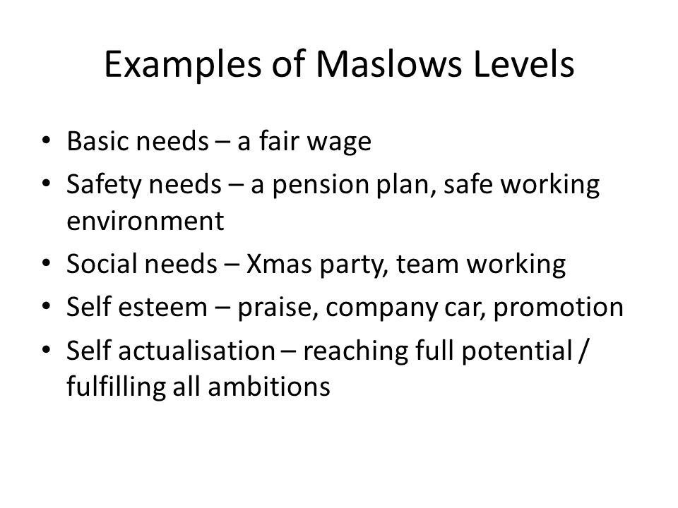 examples of basic needs