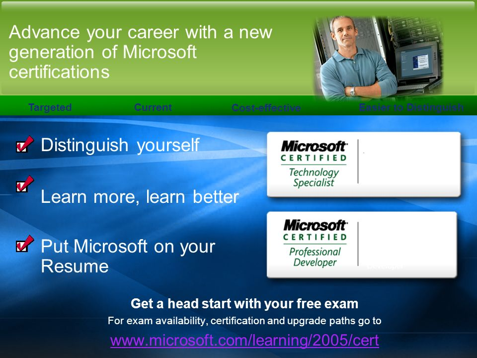 Advance your career with a new generation of Microsoft