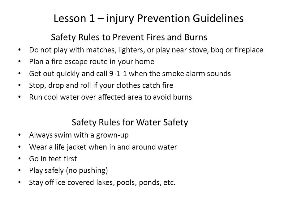 Grade 6 personal safety lesson 1 injury prevention guidelines 3 lesson ibookread Read Online