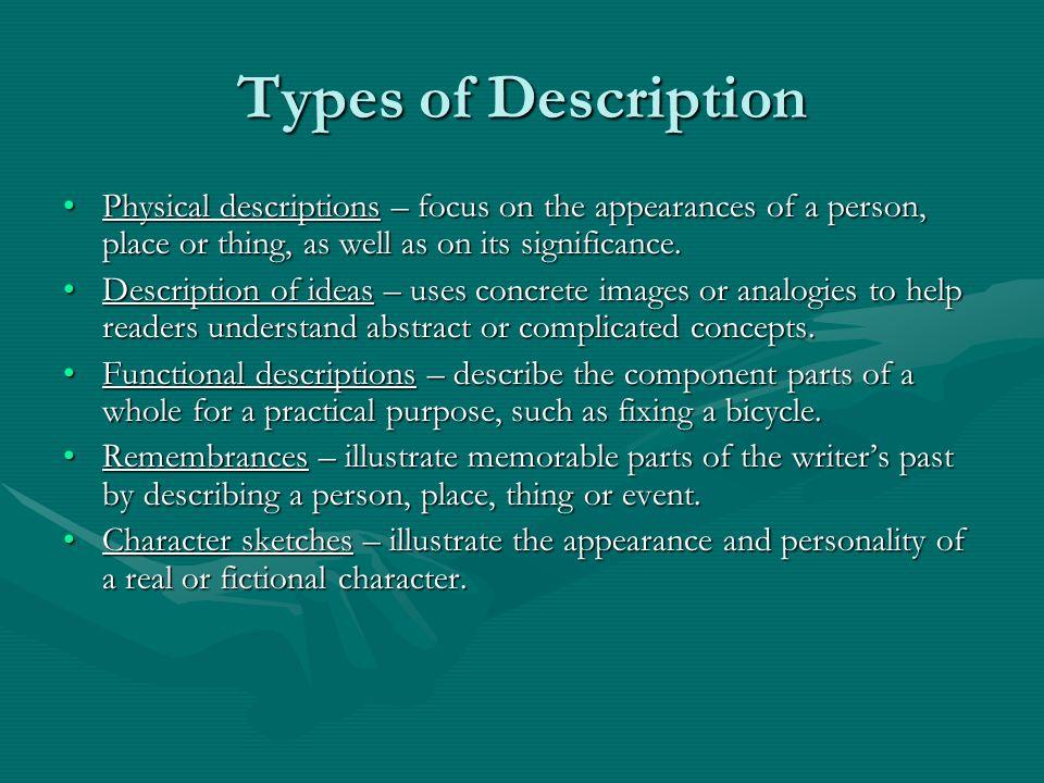 descriptive essay about a person physical appearance