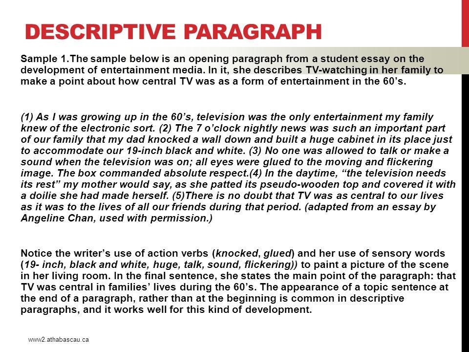 example paragraph descriptive