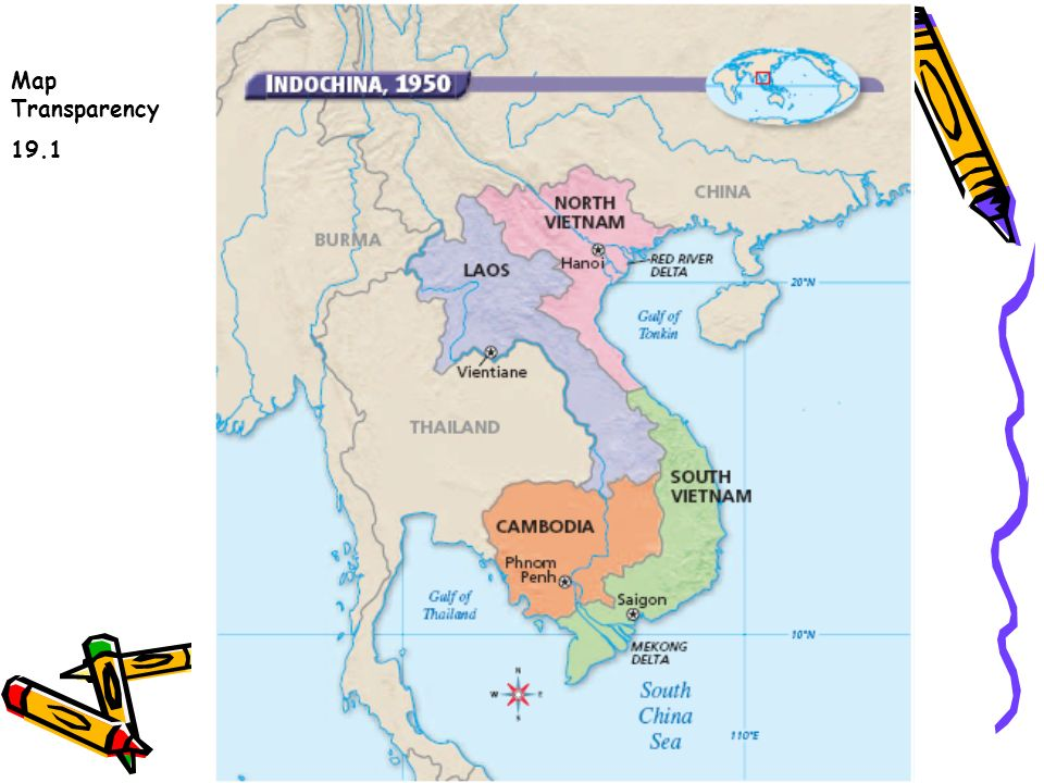 10 th American History Vietnam. Map Transparency ppt download Indochina Map on vietnam french occupation map, panama 1959 map, africa 1959 map,
