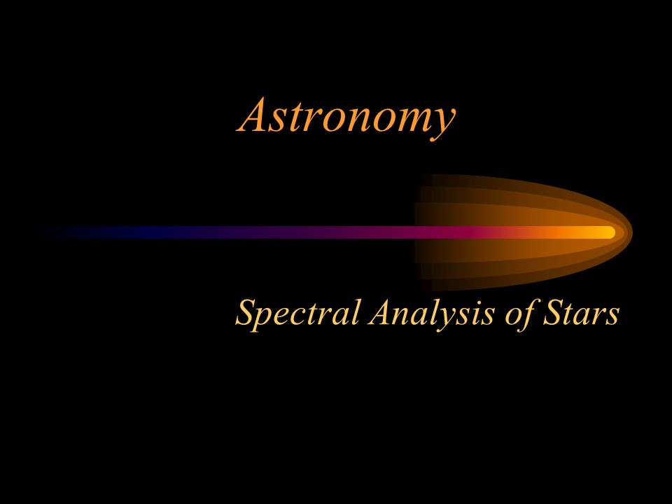 Spectral Analysis of Stars Astronomy