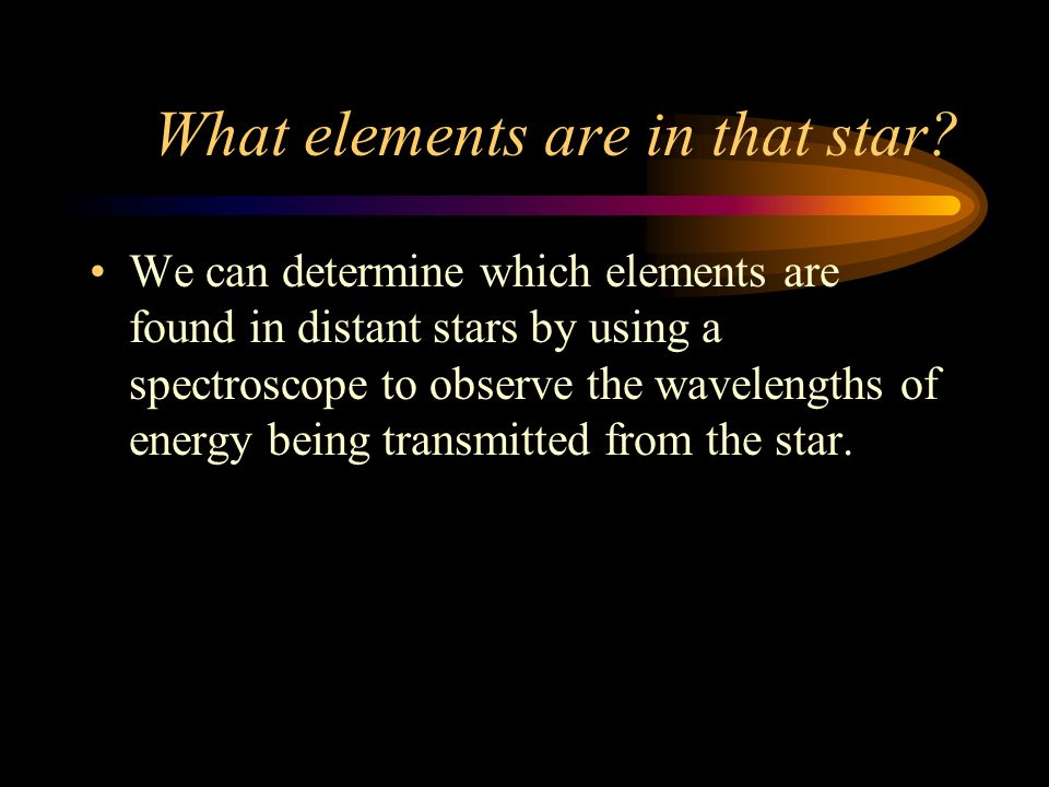 What elements are in that star.