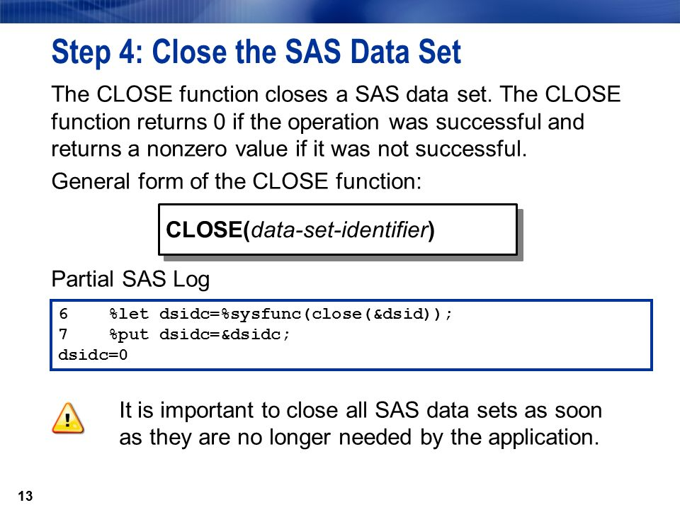 11 Chapter 3: Reading and Processing Data 3 1 Processing SAS