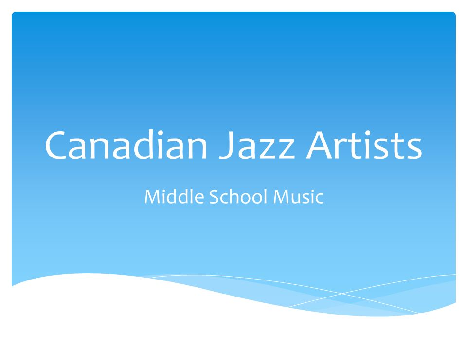 Canadian Jazz Artists Middle School Music   Coco Love