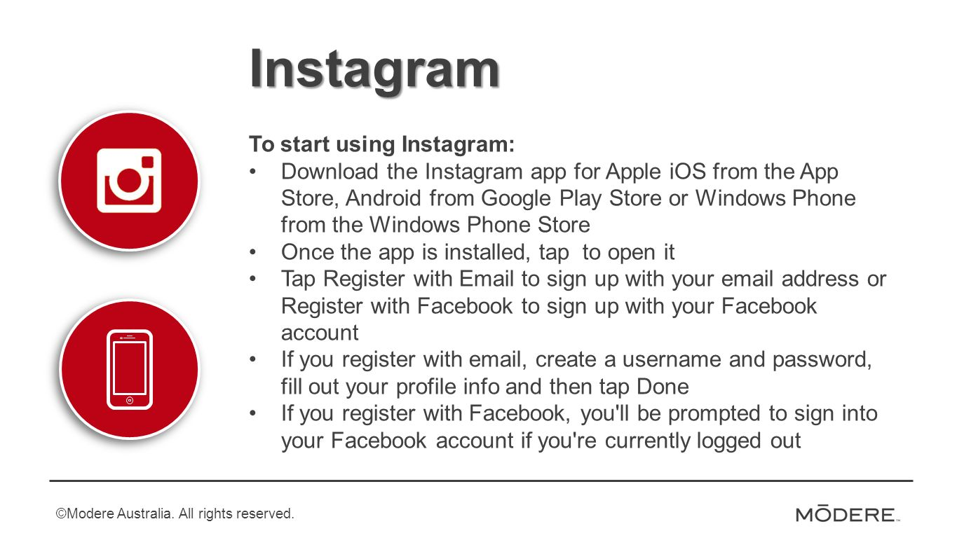 How to Begin: Instagram  Instagram To start using Instagram