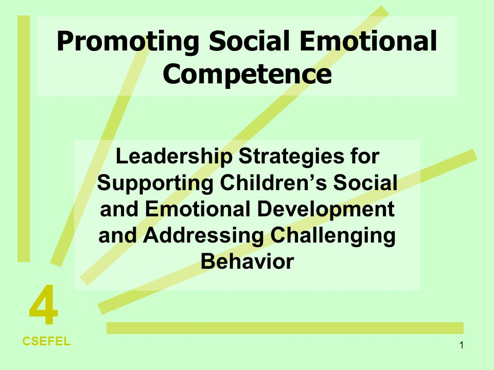 addressing the emotional and social challenges Positive social and emotional development, safety, physical health and cognitive growth stress associated with maternal deprivation, poverty, poor nutrition and child abuse can lead to lifelong behavior, learning and physical and mental health problems.