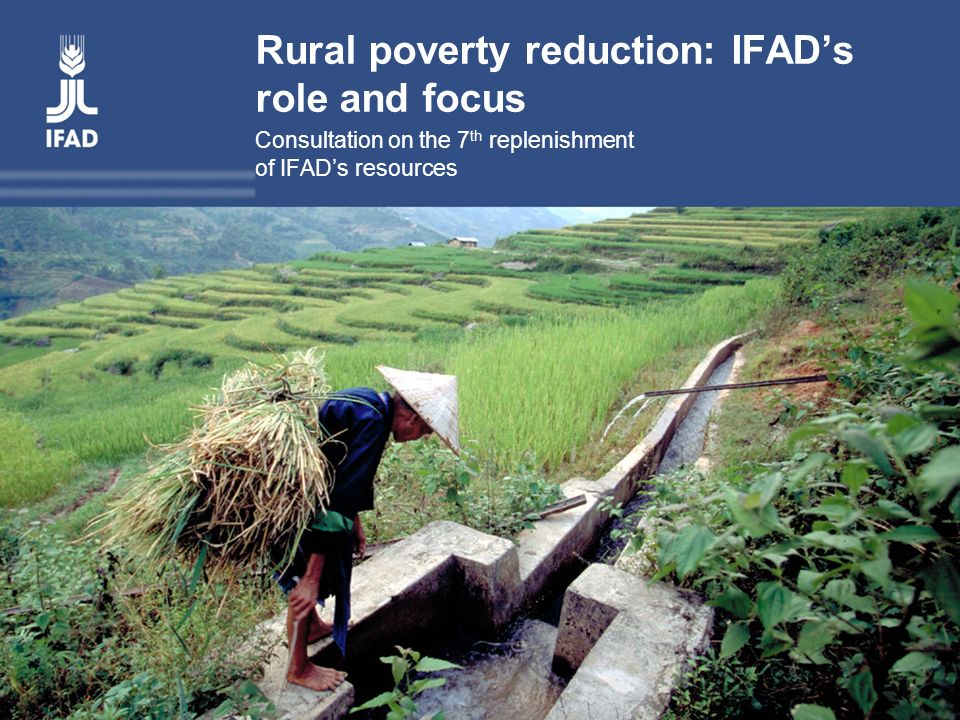 Rural poverty reduction: IFAD's role and focus Consultation on the 7 th replenishment of IFAD's resources