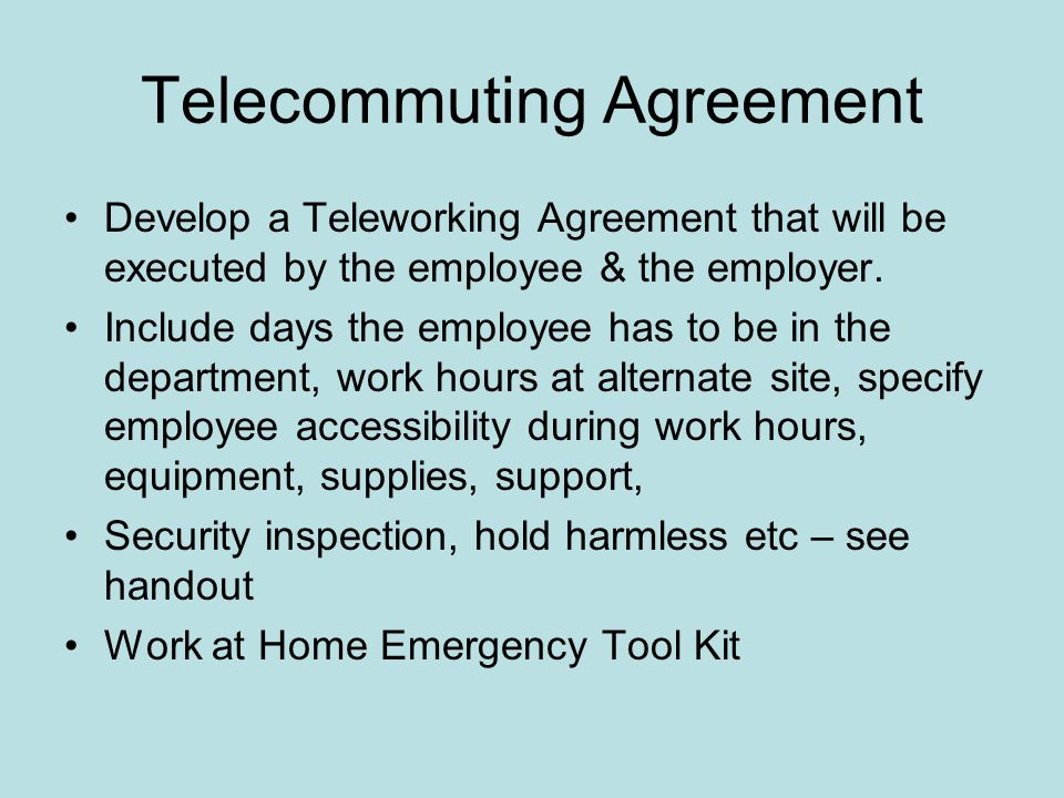 Teleworking And Remote Access Presented By Khalid Anjum Director