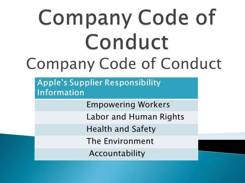 apple employee code of conduct 2018