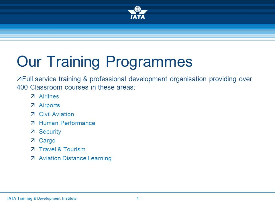 Advanced Safety Management Systems  IATA Training