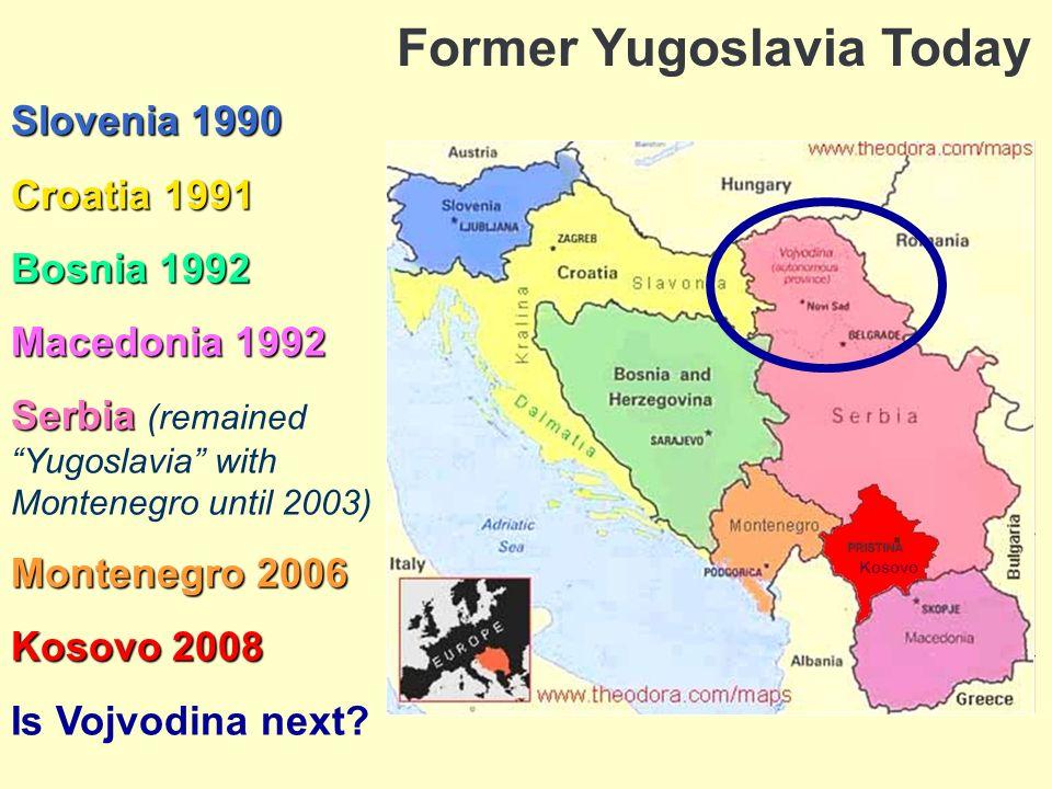 Yugoslavia today