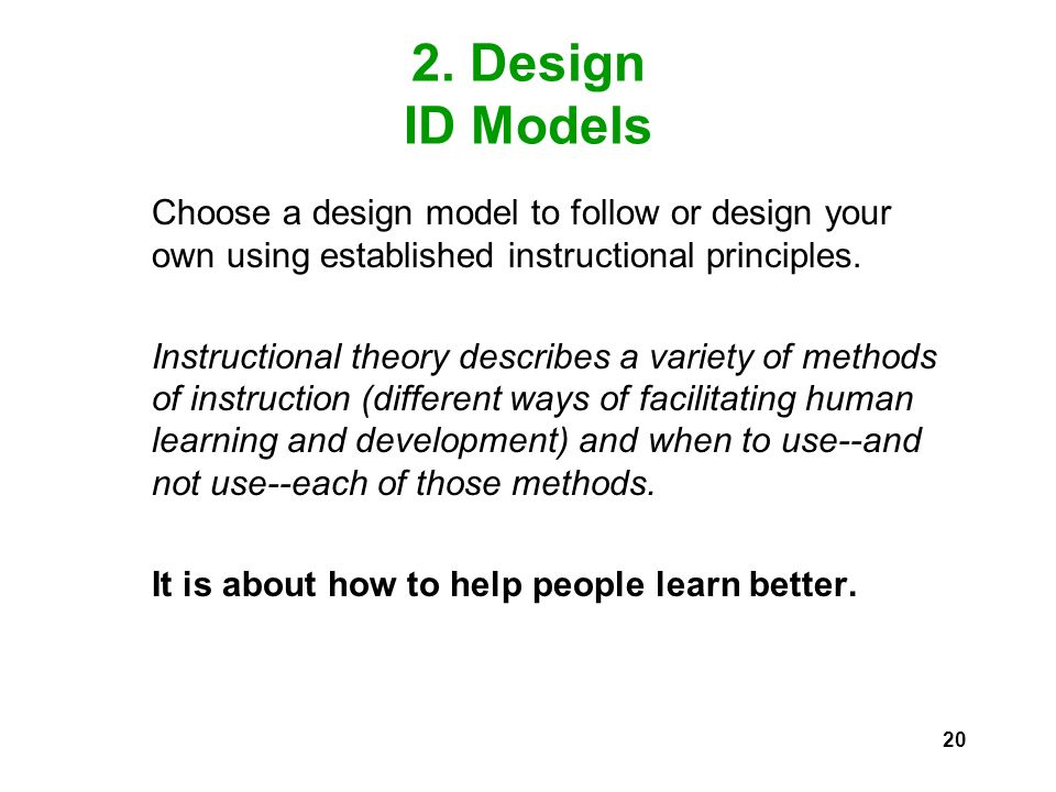 Instructional Design Id An Overview Fkip Unsri February Ppt Download