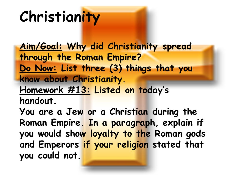 why did christianity succeed roman empire why didn t just So we can't blame christianity for the fall of the roman empire the triumph of christianity was  it actually did just imagine  why christianity didn't.