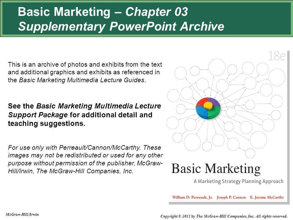 Basic Marketing – Chapter 03 Supplementary PowerPoint Archive This ...
