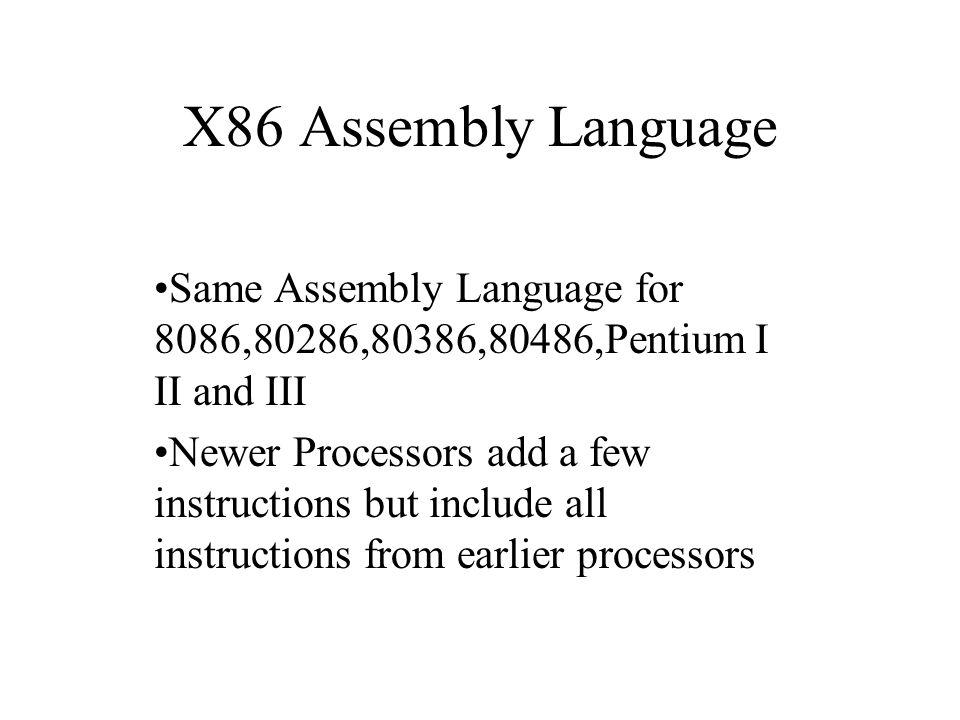 x86 assembly language same assembly language for 8086 80286 80386 rh slideplayer com x86 assembly manual intel x86 assembly language reference manual