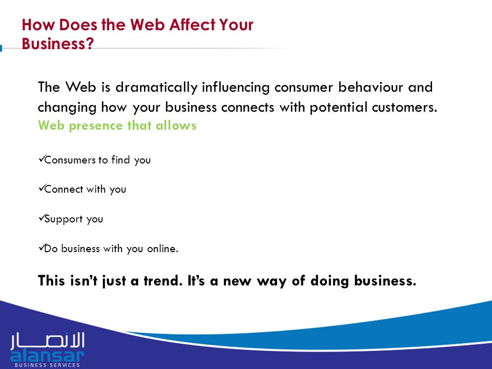 How Does the Web Affect Your Business.