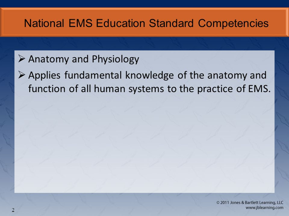 Chapter 5 The Human Body. National EMS Education Standard ...