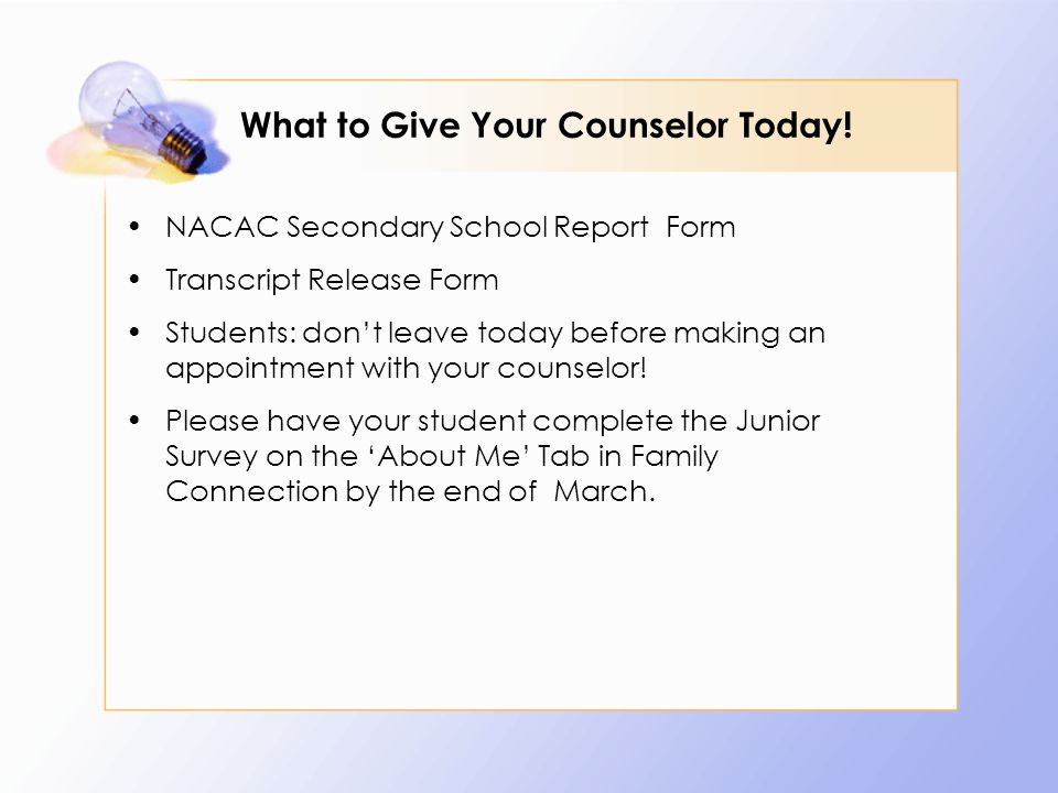 What to Give Your Counselor Today.