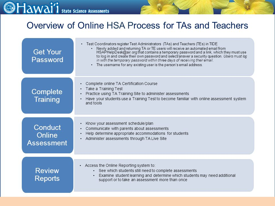 online hawai'i state assessments information for test administrators ...