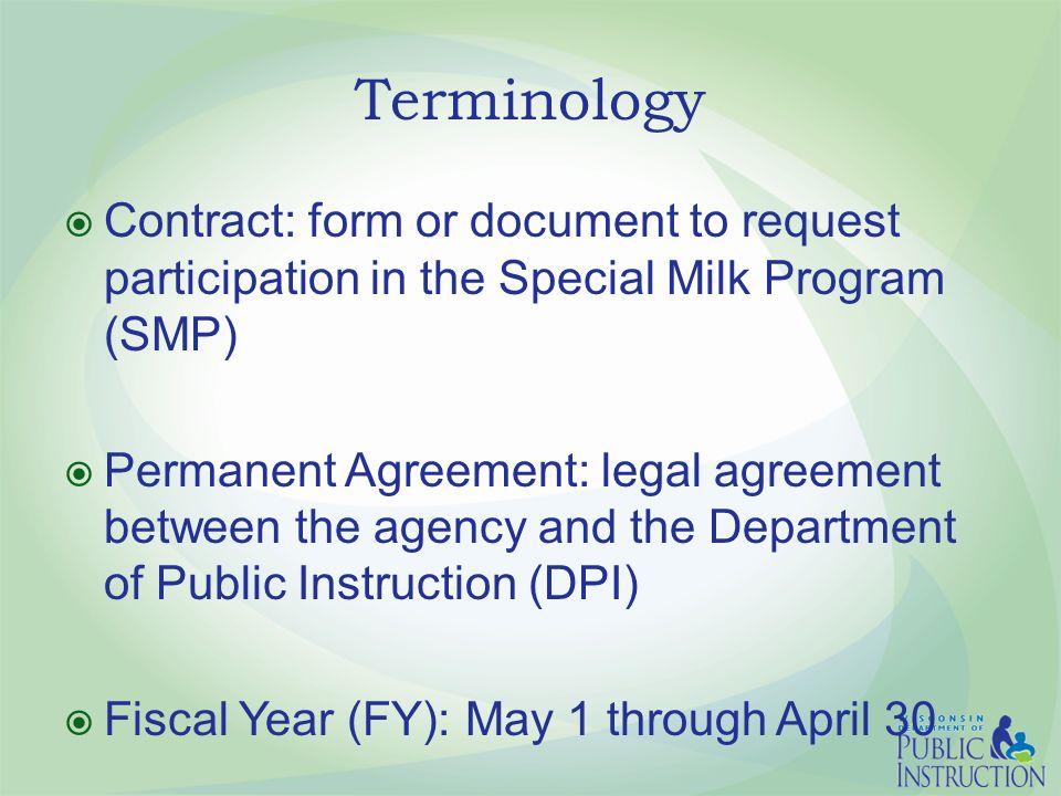The Special Milk Program Smp Online Contract Non School Agencies