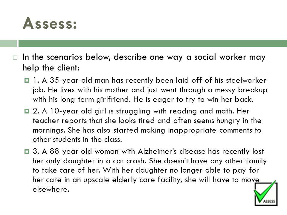 LESSON 7 2: SOCIAL WORK Module 7: Violence Obj  7 2: Identify the