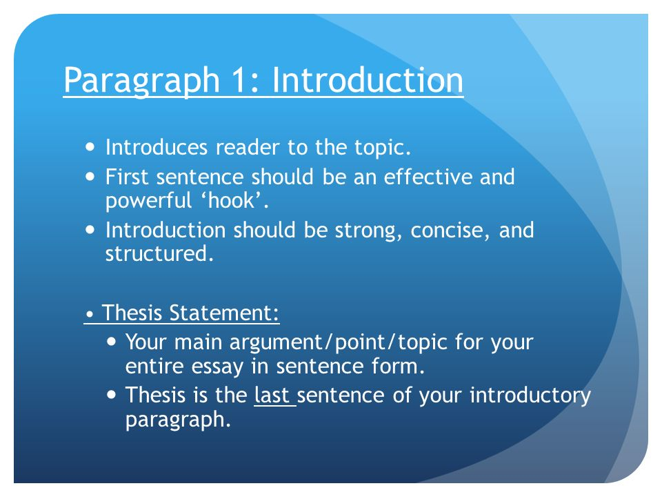 structure of a essay