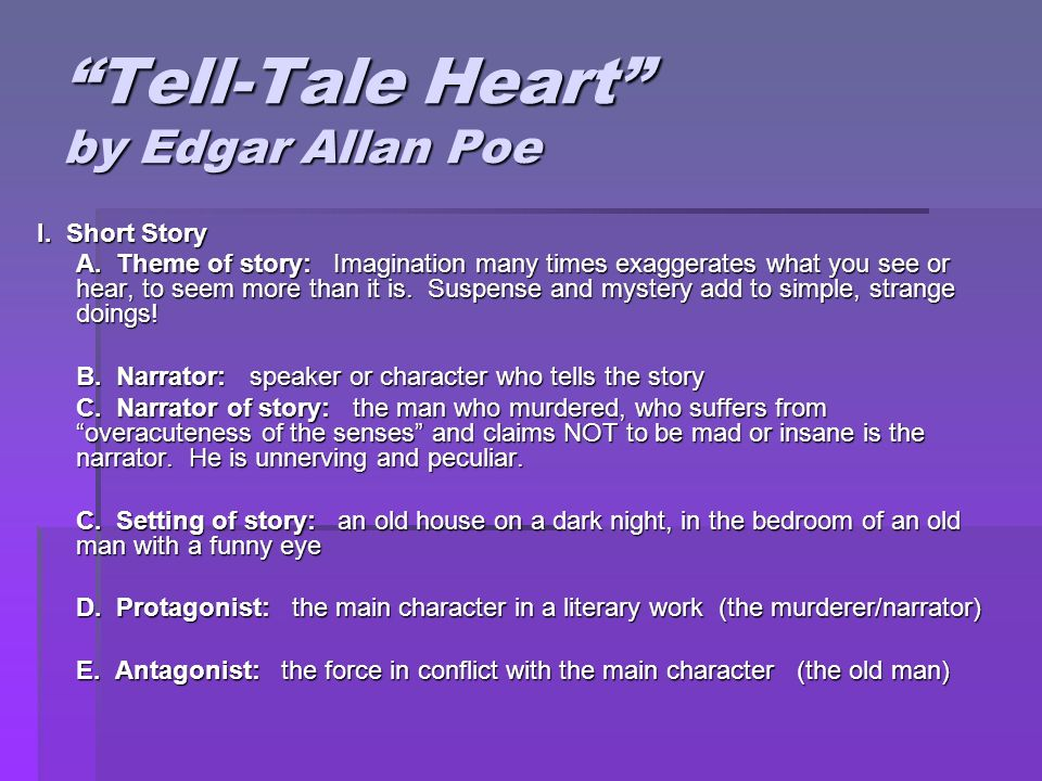 suspense in the tell tale heart