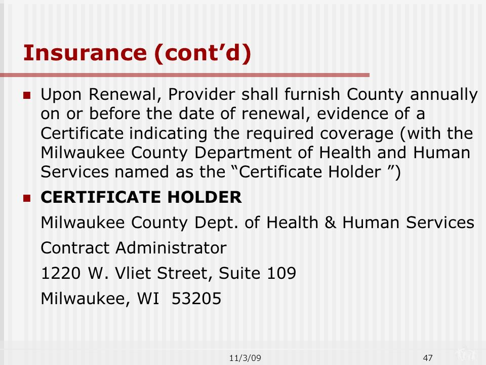 2010 Fee-For-Service Agreement for DHHS Networks PRESENTED BY ...