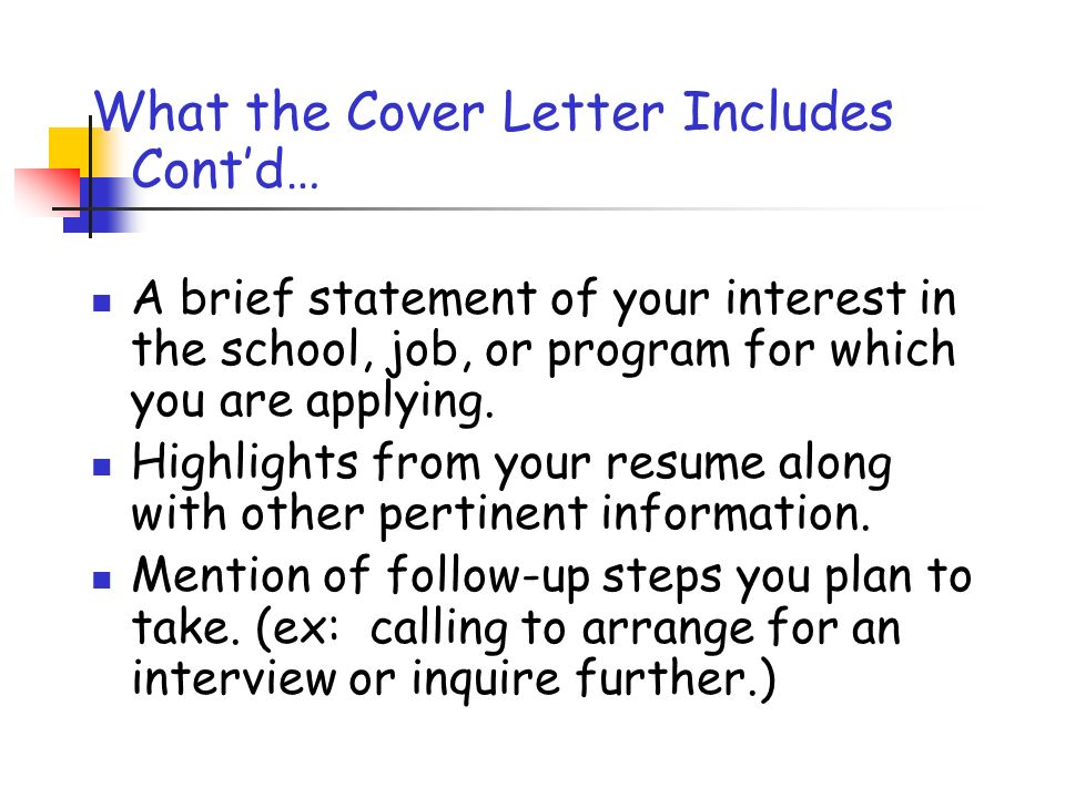 The Cover Letter Personal Finance Mountlake Terrace High School