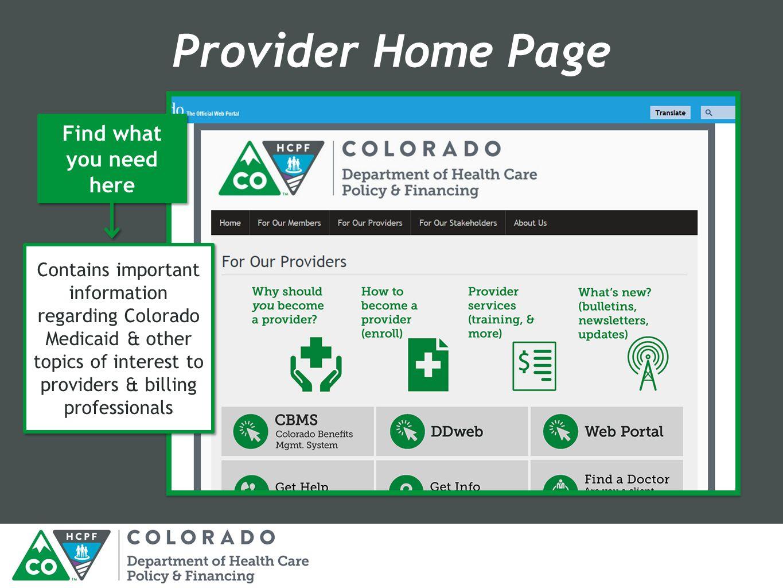 Beginning Billing Workshop Practitioner Colorado Medicaid