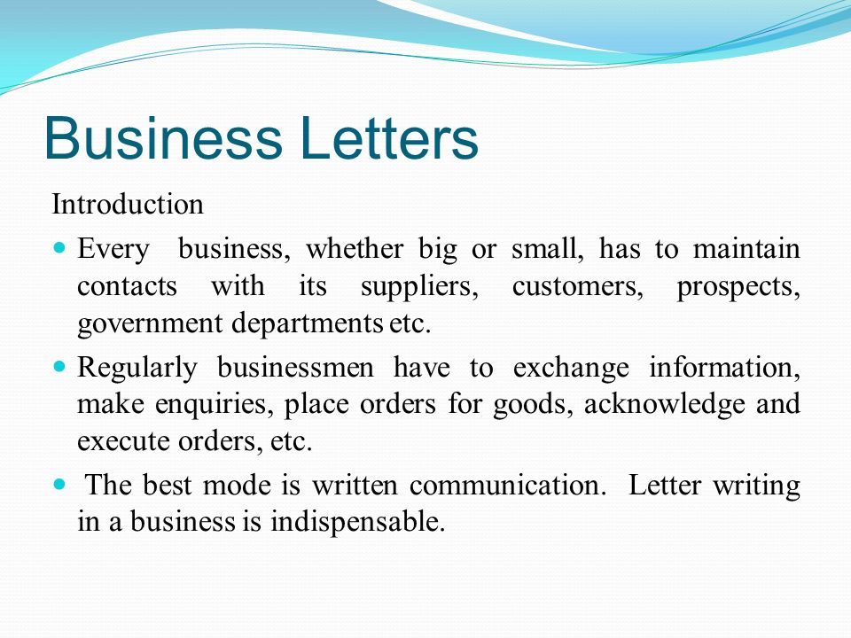 Business letters introduction every business whether big or small business letters introduction every business whether big or small has to maintain contacts with spiritdancerdesigns Images