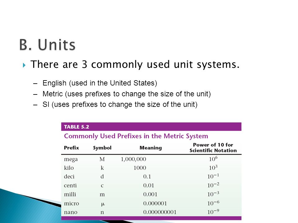  There are 3 commonly used unit systems.