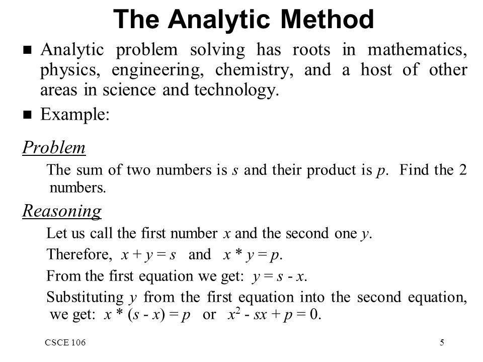 problem solving method in science