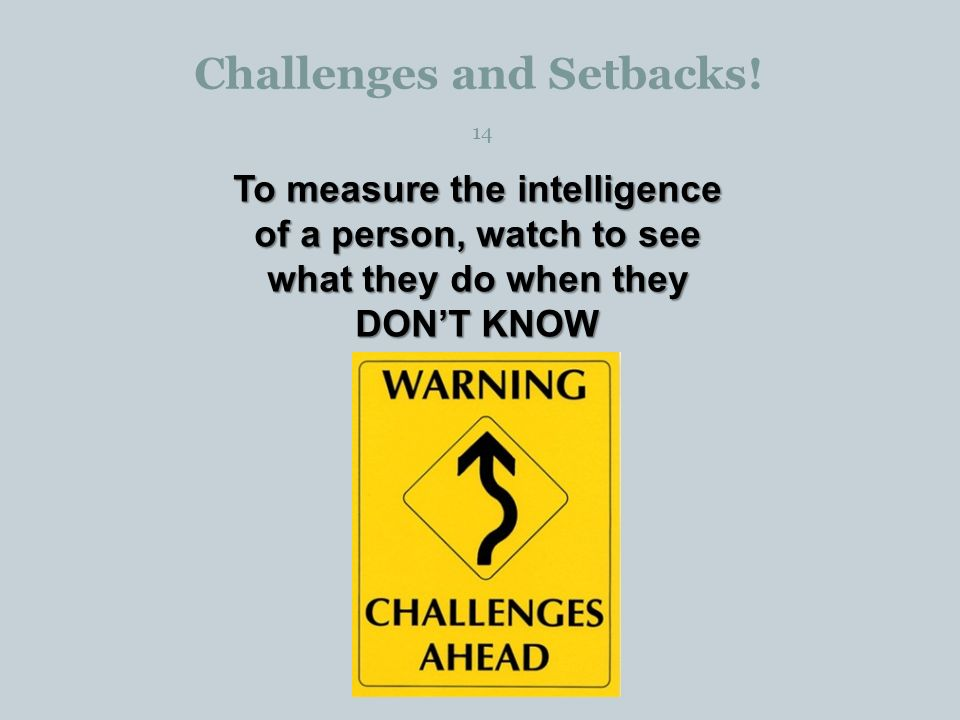 Challenges and Setbacks.