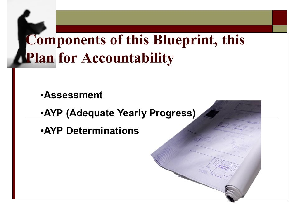 Components of this Blueprint, this Plan for Accountability Assessment AYP (Adequate Yearly Progress) AYP Determinations