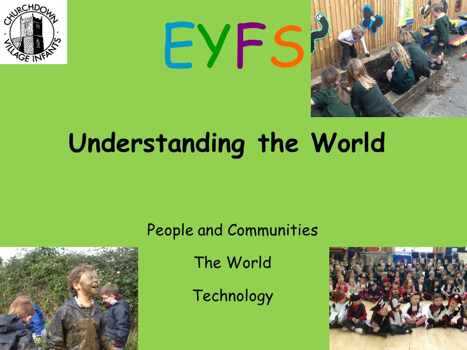Understanding the World People and Communities The World Technology EYFSEYFS