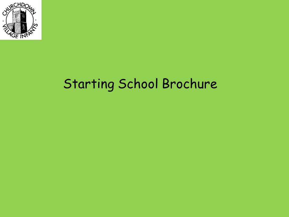 Starting School Brochure
