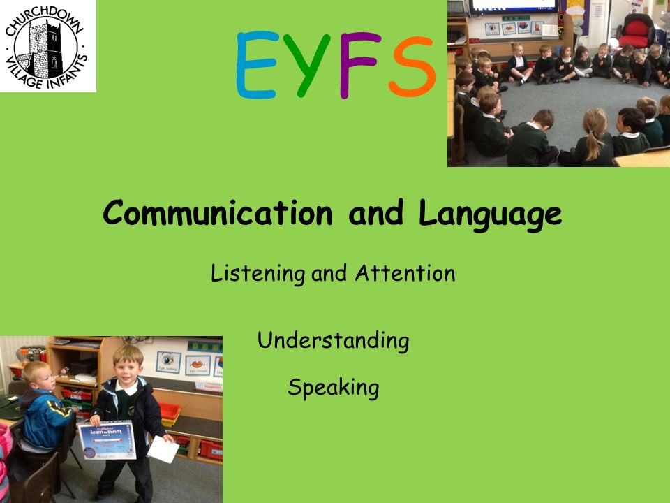 Communication and Language Listening and Attention Understanding Speaking EYFSEYFS