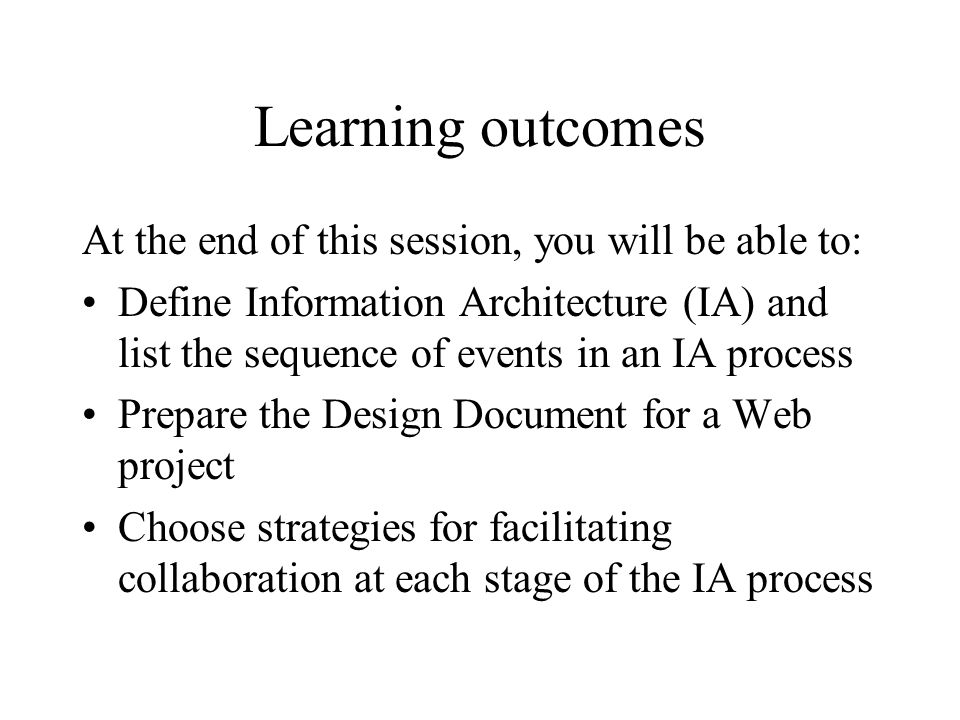 Information architecture the science of figuring out what you want 3 learning malvernweather Gallery