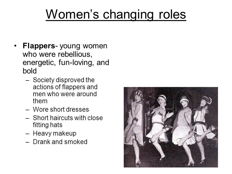 womens roles in the 1920s