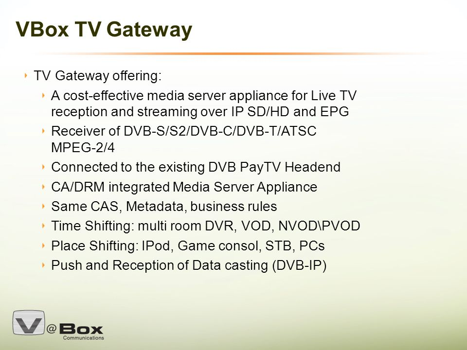 VBox Confidential 1 TV Gateway : Adding the Home LAN Device
